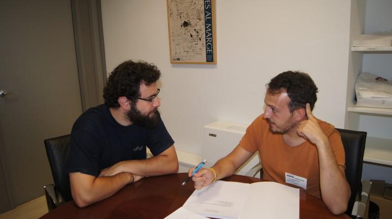 Roberto Jaramillo con el regidor de Catadau