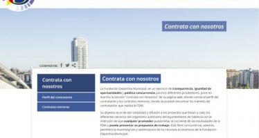 La Fundación Deportiva Municipal ahorra más de 24.000 euros con la web Contrata con Nosotros