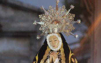 La lluvia no impidió la Procesión de la Virgen de los Dolores en Requena