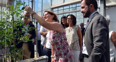 Cebrián destaca en Paiporta la convivencia de la agricultura del futuro