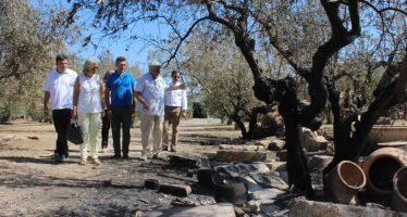"""Aguar y Peris recalcan en Moixent que en la prevención de incendios """"no caben intereses partidistas"""""""