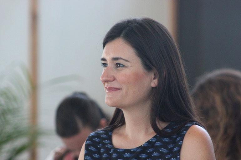 Carmen Montón, en un acto este verano. Foto: Javier Furió