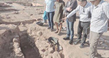 Cultura encuentra una sepultura visigoda en el yacimiento de l'Horta Vella de Bétera