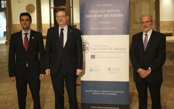 Puig clausura el centenario del Colegio Mayor San Juan de Ribera de Burjassot