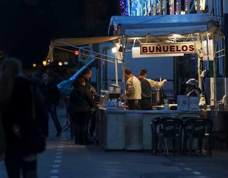 Una churrería en Fallas. Foto: Isaac Ferrera