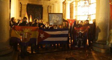 Valencia rindió homenaje a Fidel Castro