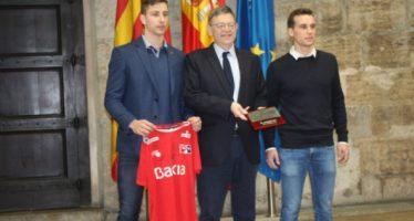 Puchol II y Moltó, con el presidente de la Generalitat