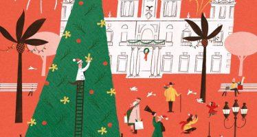 Galiana presenta el cartel con que el Ayuntamiento de Valencia felicita la Navidad