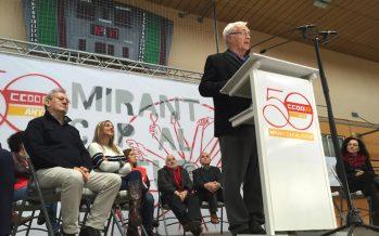 Ribó presume de convenio colectivo en el acto del 50 aniversario de CCOO
