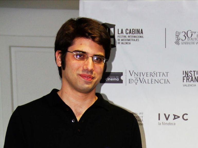 Carlos Madrid, en una presentación de La Cabina, del que fue director.