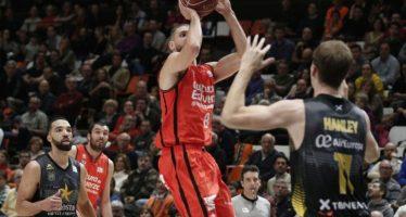 Valencia Basket gana al Tenerife y alcanza el segundo puesto (74-58)