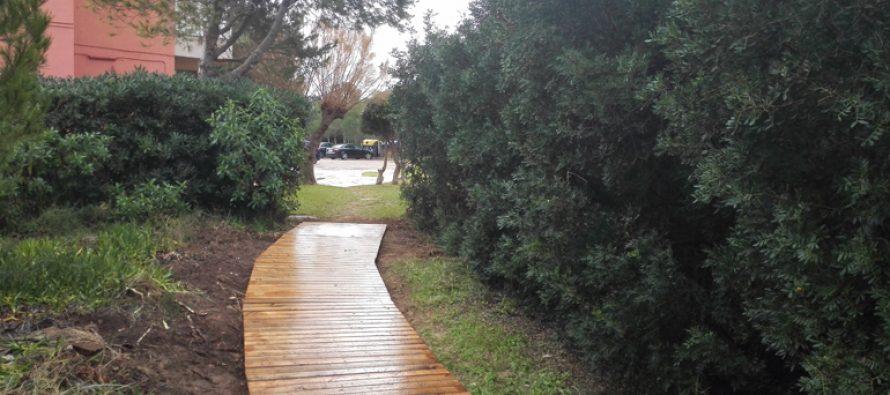 El Ayuntamiento comienza a instalar nuevas pasarelas de madera en la zona residencial de la Devesa