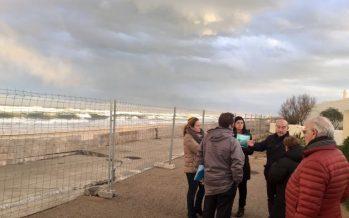 El Grupo Popular pide que se actúe de forma urgente en el Paseo Marítimo de la Playa de la Garrofera