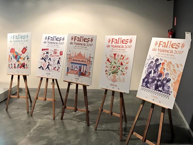 Cartells de les Falles 2017, presentat al mes de gener de 2017.