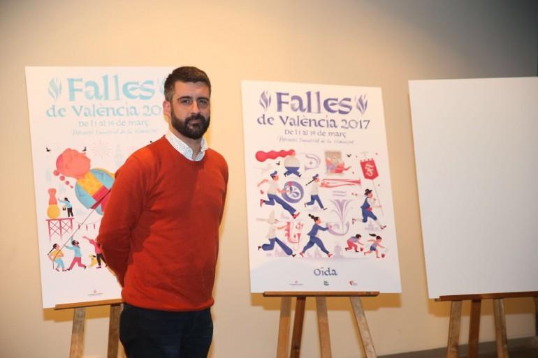Fuset, en la presentació de la imatge gràfica de les Falles 2017