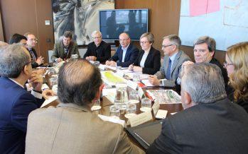 Acuerdo entre administraciones para impulsar la plataforma intermodal de la Fuente de San Luis