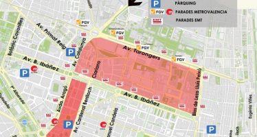 Zonas de estacionamiento en Valencia durante las Fallas 2017