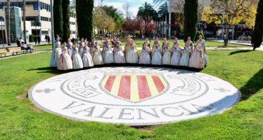 Las Falleras Mayores de València visitan la UPV