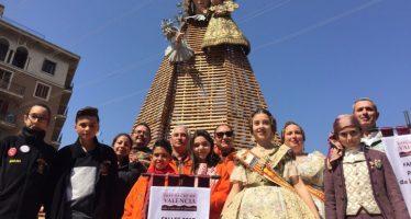Les Falles de Vilamarxant reben l'estendard que les acredita com a Patrimoni de la Humanitat