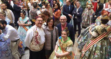 Alboraia assisteix a la recepció fallera de la Diputació de València