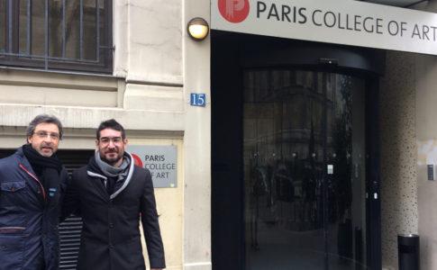 Jaime Torres, director de ESAT, y Solimán López, director del departamento de I+D+i de ESAT, en la Paris College of Art