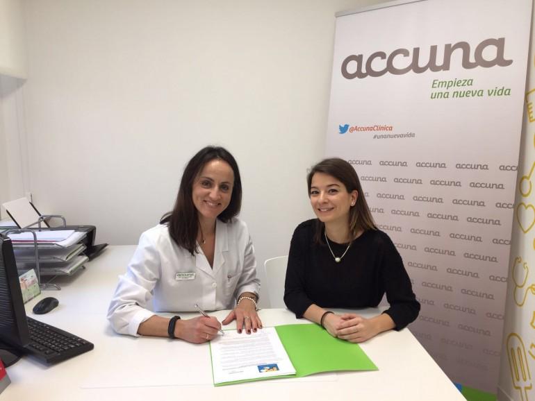 La directora médica de Accuna, Paloma Baviera, y la vicepresidenta de la APPV, Patricia Moratalla