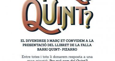 Reyes Martí, homenajeada en la presentación del llibret de la Falla Barri Quint – Pizarro