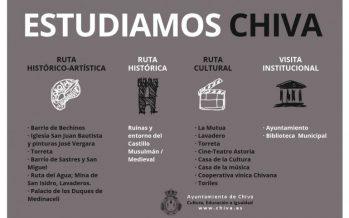 Nace 'Estudiamos Chiva' para dar a conocer a los escolares el patrimonio histórico y cultural del municipio