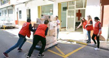 Creu Roja rep 8.900 quilos d'aliments amb la col·laboració de l'Ajuntament de Paiporta