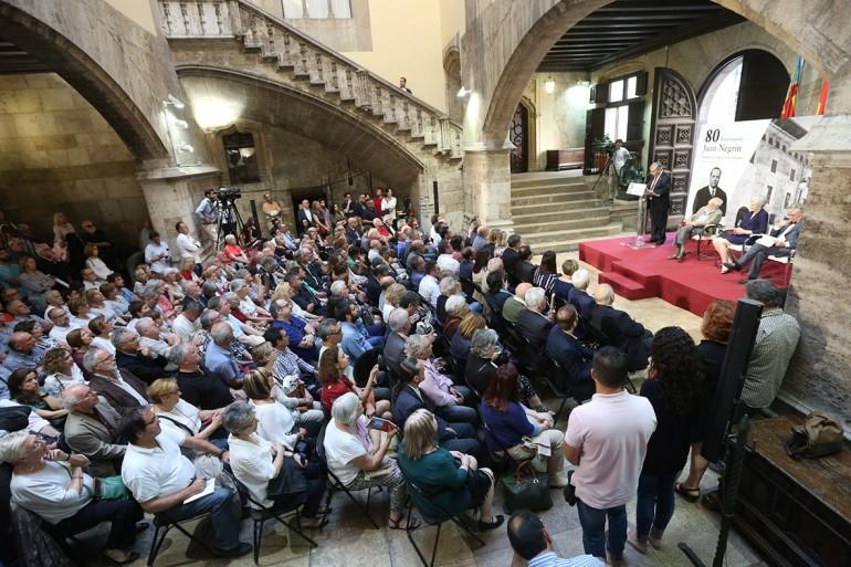 La Generalitat rinde homenaje a la figura de Juan Negrín