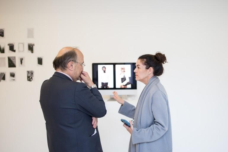 Mary Saisselin de PCA junto con el representante cultural de la Embajada Española en Paris.
