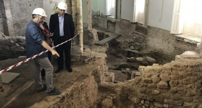 Unas excavaciones sacan a la luz el mayor muro de época romana hallado en València