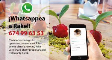 """Rakel Cernicharo: """"Quiero saber de primera mano si mis platos gustan a la gente"""""""