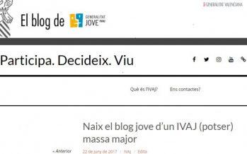 L'IVAJ llança un blog per a promoure la participació dels joves