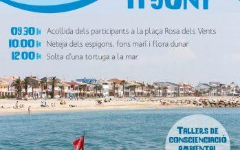 Limpieza de la playa de Puçol para celebrar el Día Mundial del Medio Ambiente