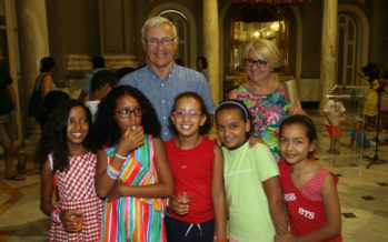 Recepció a xiquets i xiquetes sahrauís en l'Ajuntament de València