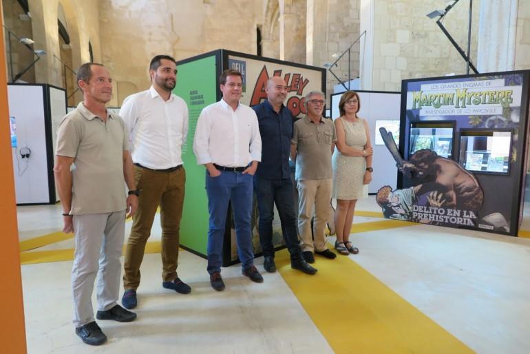 El diputat Xavier Rius, juntament amb l'alcalde de Xàtiva, Roger Cerdà, Jordi Estellés i Santiago Grau