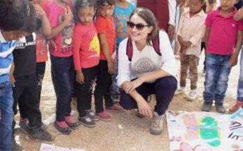 Oltra visita un campo de refugiados palestinos en Jericó