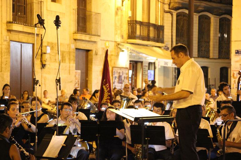 Un moment de l'actuació de la Banda Simfònica Unió Musical de Lleida. Foto: Javier Furió