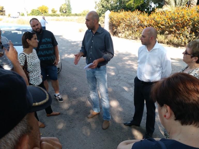 El diputado de Carreteras, Pablo Seguí, en su visita al El Puig