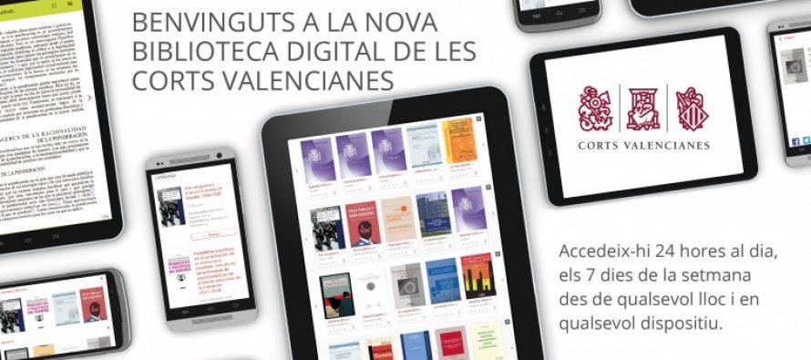 Les Corts obrin la seua biblioteca digital a tota la ciutadania
