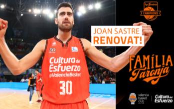 Joan Sastre renueva con Valencia Basket hasta 2021