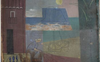 El IVC+R restaura tres paneles de Manuel Baeza de los pabellones de baño de la playa del Postiguet