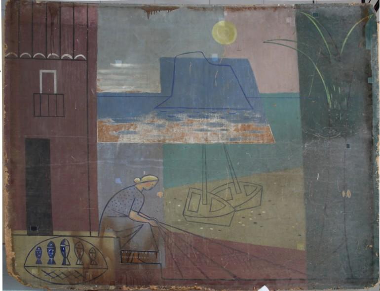 El ivc r restaura tres paneles de manuel baeza de los - Paneles decorativos bano ...