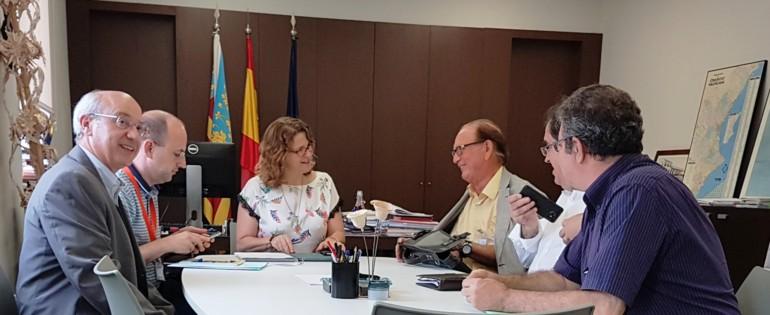 La consellera de Agricultura y Medio Ambiente ha recibido a los principales cargos de la Cámara de Contratistas de la Comunitat Valenciana