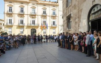 La Diputación se suma al minuto de silencio de la Generalitat por los atentados terroristas de Barcelona y Cambrils