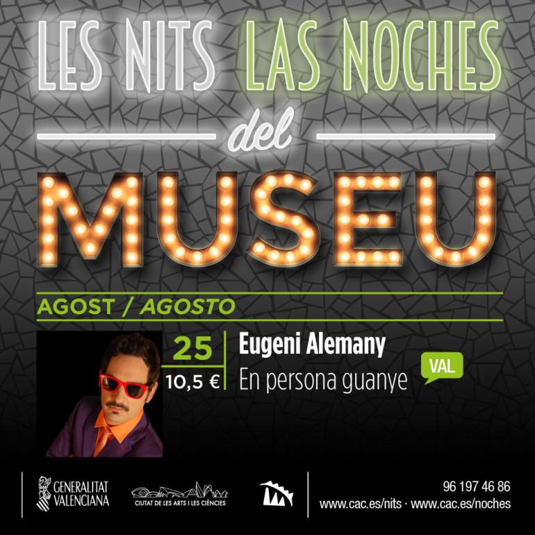 Eugeni Alemany vuelve a Les Nits del Museu