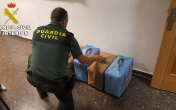 La Guardia Civil interviene 150 kilos de hachis en Sagunto