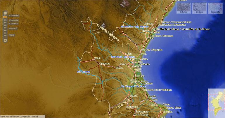 Mapa del Institut Cartogràfic Valencià