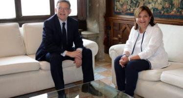 Puig recibe a Bonig para hablar de educación y financiación autonómica